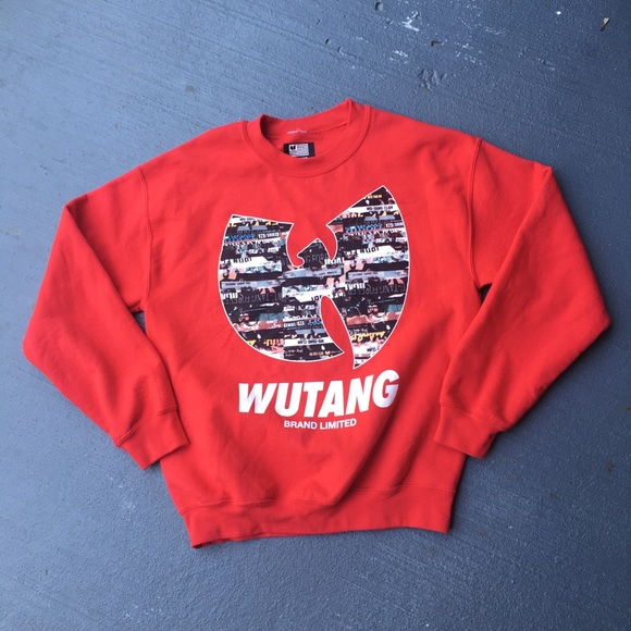 34fefb7b3 Red wu tang crewneck sweater. M_5b2807540cb5aac3ec83d50f
